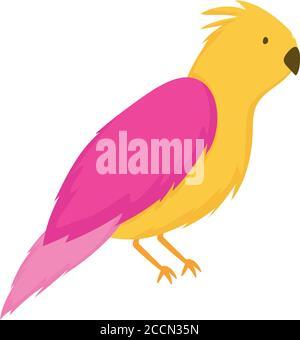 cute pet bird cartoon isolated white background design vector illustration