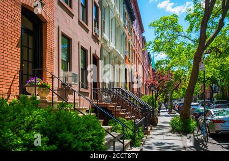New York City, USA, May 2019, view of the W 22nd St in the Chelsea neighborhood