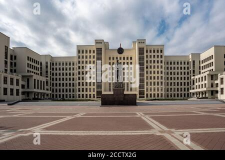 House of Government and Lenin Monument - Minsk, Belarus