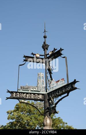 Village sign, Lavenham, Suffolk