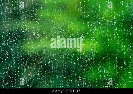 Montreal,Quebec,Canada,August 25, 2020.Close-up of raindrops on window.Credit:Mario Beauregard/Alamy News Stock Photo