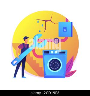 Basement services abstract concept vector illustration. - Stock Photo