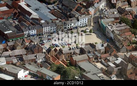 aerial view of Ripon city centre from the west, North Yorkshire