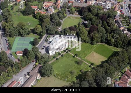 aerial view of The Ripon Spa Hotel and Ripon Spa Gardens, North Yorkshire