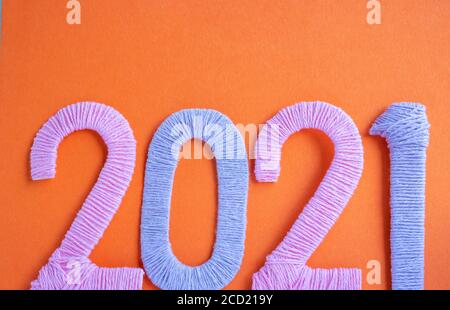 Happy new year 2021 greeting card. Congratulation ...