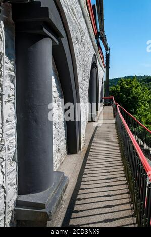 Laxey Wheel, Laxey, Isle of Man - Stock Photo