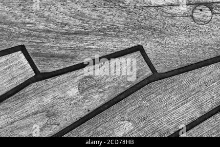 Textured Wood Deck - Stock Photo