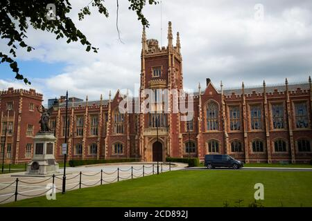 queens university belfast main lanyon building belfast northern ireland uk - Stock Photo