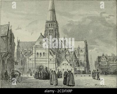 . Cathedrals, abbeys and churches of England and Wales, descriptive, historical, pictorial . ST. PAULAS. - Stock Photo