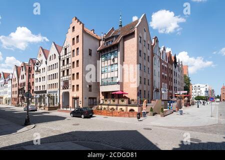 Gothic Brama Targowa (city gate) in Old Town of Elblag, Poland. July 15th 2020 © Wojciech Strozyk / Alamy Stock Photo - Stock Photo