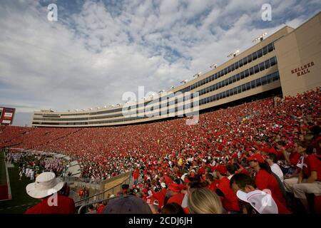 Madison, WI September 29, 2007:  College football at Camp Randall stadium during the Wisconsin vs. Michigan State game in the Big Ten Conference.       ©Bob Daemmrich/