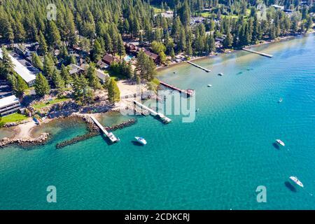 North Lake Tahoe Coast, Lake Tahoe, CA - Stock Photo