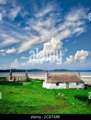 GB - SCOTLAND:  Croft at Malacleit on North Uist (Outer Hebrides) - Stock Photo