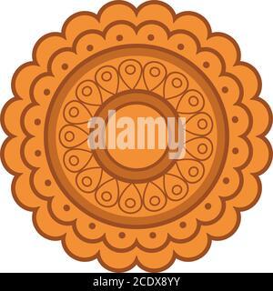 mooncake design, Happy mid autumn harvest festival oriental chinese and celebration theme Vector illustration