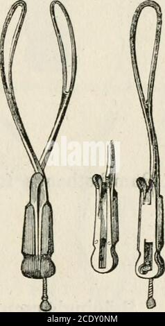 . Lectures on natural and difficult parturition . Fig. 2.—Smellies Forceps.. Fig. 4.—Aitkeas Forceps. Fig. 5.—Conquests Forceps. 17 - Stock Photo