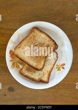 Home Made Bread Toast delicious two in number are ready to be served