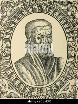 . Beza's Icones, contemporary portraits of reformers of religion and letters; being facsimile reproductions of the portraits in Beza's Icones (1580) and in Goulard's edition (1581). ted into the language of all. This he sethimself to bring about in the case of his owncountrymen. How much he did with his own penit may not now be possible to ascertain ; but this isbeyond doubt that it was he who first conceived theproject of translating the whole Bible into English ;that he took a personal share in the labour of itsexecution, and that the carrying through of thework was due to his unflagging det - Stock Photo