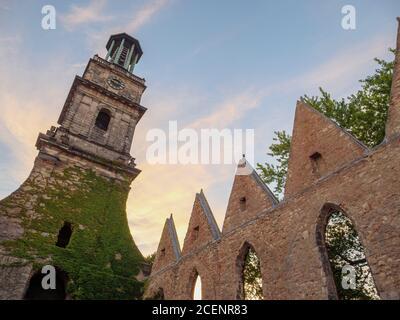 Ruine der Aegidienkirche - Kriegsdenkmal - in Hannover, Niedersachsen, Deutschland, Europa ruins of Aegidien Curch. war memorial in Hanover, Lower Sax