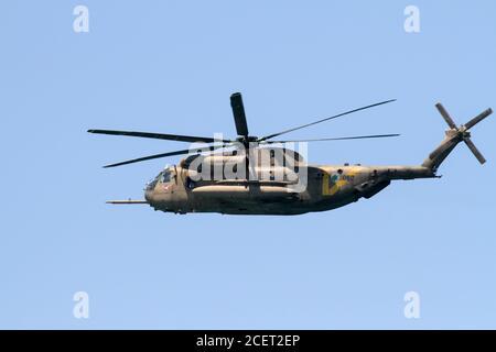Israeli Air force IAF Sikorsky CH-53 Sea Stallion helicopter in flight IAF code named Yasur