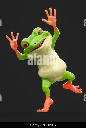 frog , 3d illustration - Stock Photo