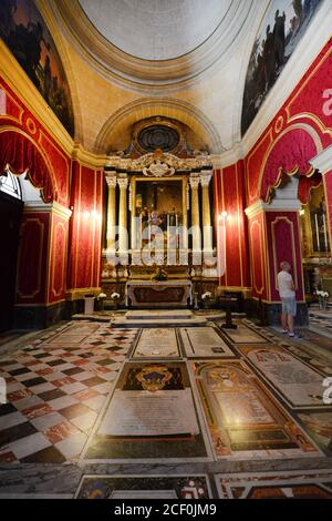 St Paul's Cathedral in Mdina, Malta. - Stock Photo