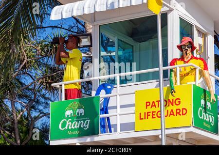 Lifeguard on the beach at Patong, Phuket, Thailand