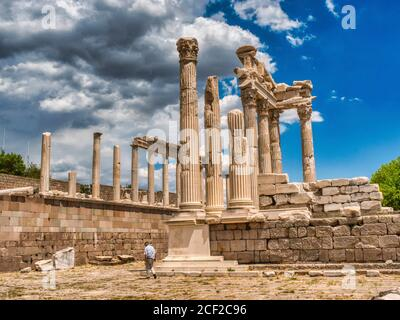 ancient Greek and Roman city of Pergamon, Bergama, Turkey. - Stock Photo