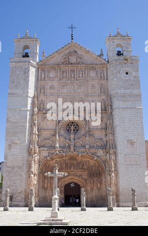 Valladolid, Spain - July 18th, 2020: Iglesia conventual de San Pablo. One of the buildings considered most emblematic of the city. Valladolid, Spain. Stock Photo