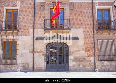 Valladolid, Spain - July 18th, 2020: Palacio de Pimentel, where Felipe II was born. Now housing the Diputacion Provincial of Valladolid, Spain. Stock Photo