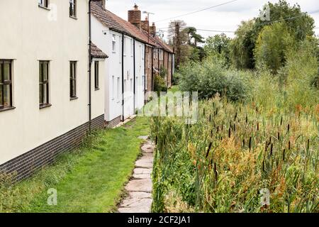 The Thames and Severn Way long distance footpath beside the disused Stroudwater Navigation at Upper Framilode, Gloucestershire UK - Stock Photo