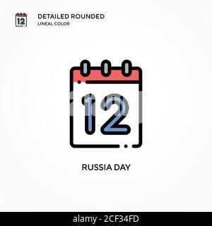 Russia day vector icon. Modern vector illustration concepts. Easy to edit and customize. - Stock Photo