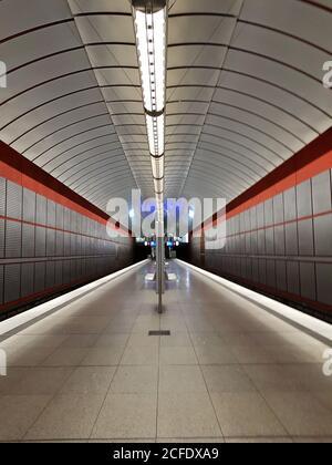 Munich, Kreillerstrasse underground station, without trains
