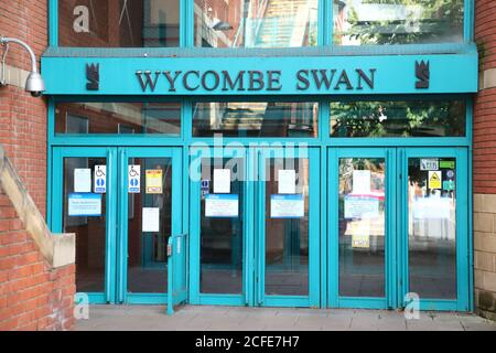 Entrance to the Wycombe Swan theatre in High Wycombe, UK - Stock Photo