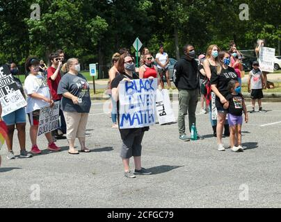 Protest in New Jersey in the wake of previous police shootings throughout the country.