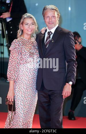 Palazzo del Cinema, Lido, Venice, Italy. 5th Sep, 2020. Hanne Jacobsen, Mads Mikkelsen poses on the red carpet at Kineo Prize. Picture by Credit: Julie Edwards/Alamy Live News