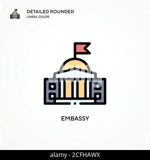 Embassy vector icon. Modern vector illustration concepts. Easy to edit and customize. - Stock Photo