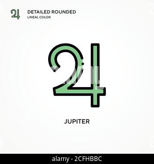Jupiter vector icon. Modern vector illustration concepts. Easy to edit and customize. - Stock Photo