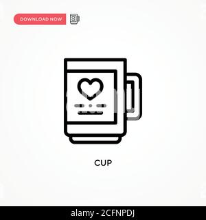 Cup vector icon. Modern, simple flat vector illustration for web site or mobile app - Stock Photo