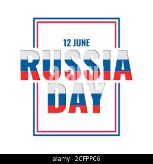 12th june happy russia day celebration card design - Stock Photo