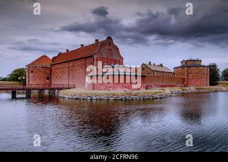 After the sun has set, Landskrona citadel looks beautiful in the blue hour light.