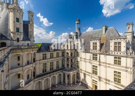 France, Loir et Cher, Loire valley listed as World Heritage by UNESCO, Chambord, the castle of Chambord, built between 1519 and 1538, Renaissance styl