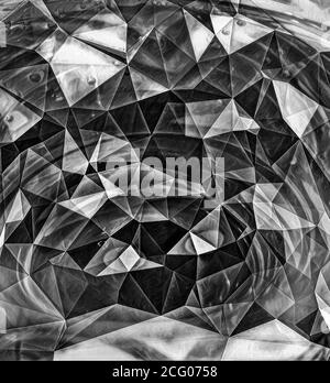 3d abstract black crystallized background.
