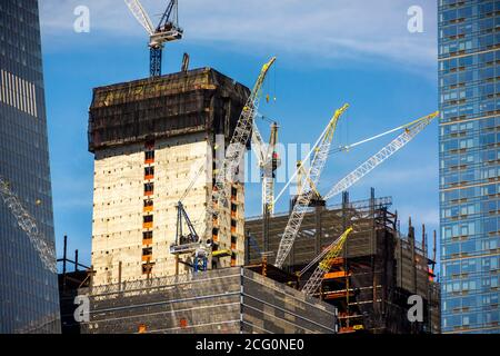 Development in and around Hudson Yards in New York on Saturday, September 5, 2020.  (© Richard B. Levine) - Stock Photo