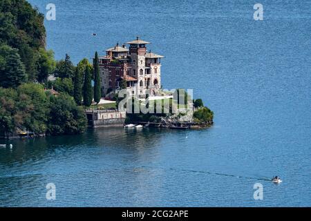 Italy. Lombardy. Lake Como. Around the village of Menaggio. Villa on the lake