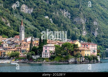 Italy. Lombardy. Lake Como. The colorful village of Varenna