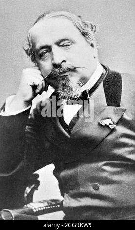 Napoleon III c.1872. Portrait of Charles-Louis Napoléon Bonaparte (1808-1873), the first president of France from 1848 to 1852, and the last French monarch from 1852 to 1870. - Stock Photo