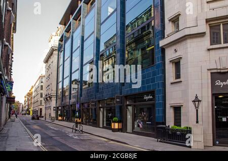 London, UK - April 24, 2020:  view along the normally busy Brewer Street in Soho, Central London during COVID lockdown. - Stock Photo