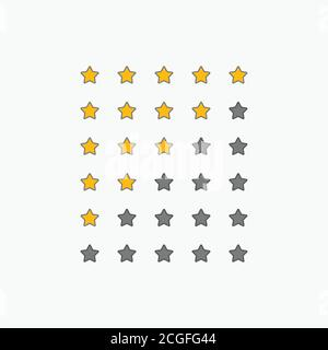 set of star rating symbols