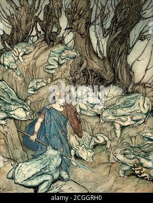 Rackham Arthur - Irish Fairy Tales - Becuma of the White Skin - British School - 19th  Century