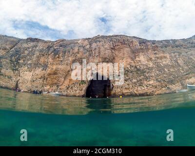 Inland Sea on the island of Gozo, Malta - Stock Photo